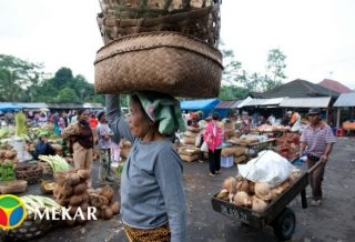 Indonesian Traditional Market Activity